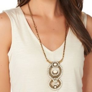 Stella & Dot white havana statement necklace